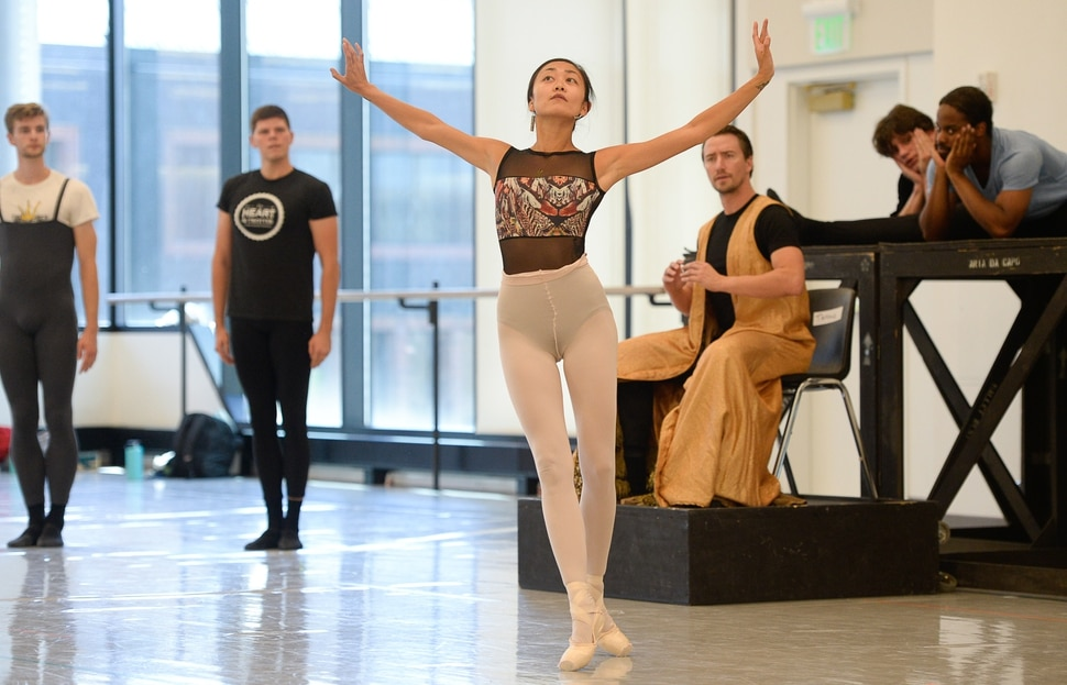 (Francisco Kjolseth | The Salt Lake Tribune) Ballet West dancers present a 20-minute rehearsal performance of its upcoming Le Chant du Rossignol, followed by a discussion of how to stage the 1925 production in a racially sensitive way.