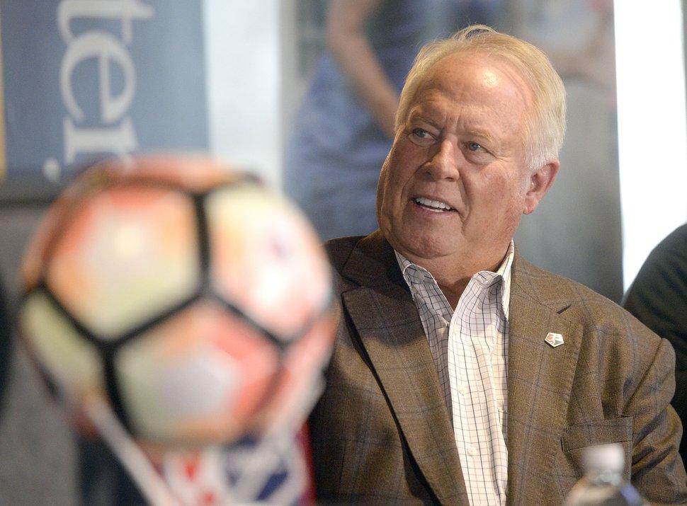 (Al Hartmann | The Salt Lake Tribune) Real Salt Lake owner Dell Loy Hansen announced that the National Women's Soccer League (NWSL) will field a team in Utah for the 2018 season.