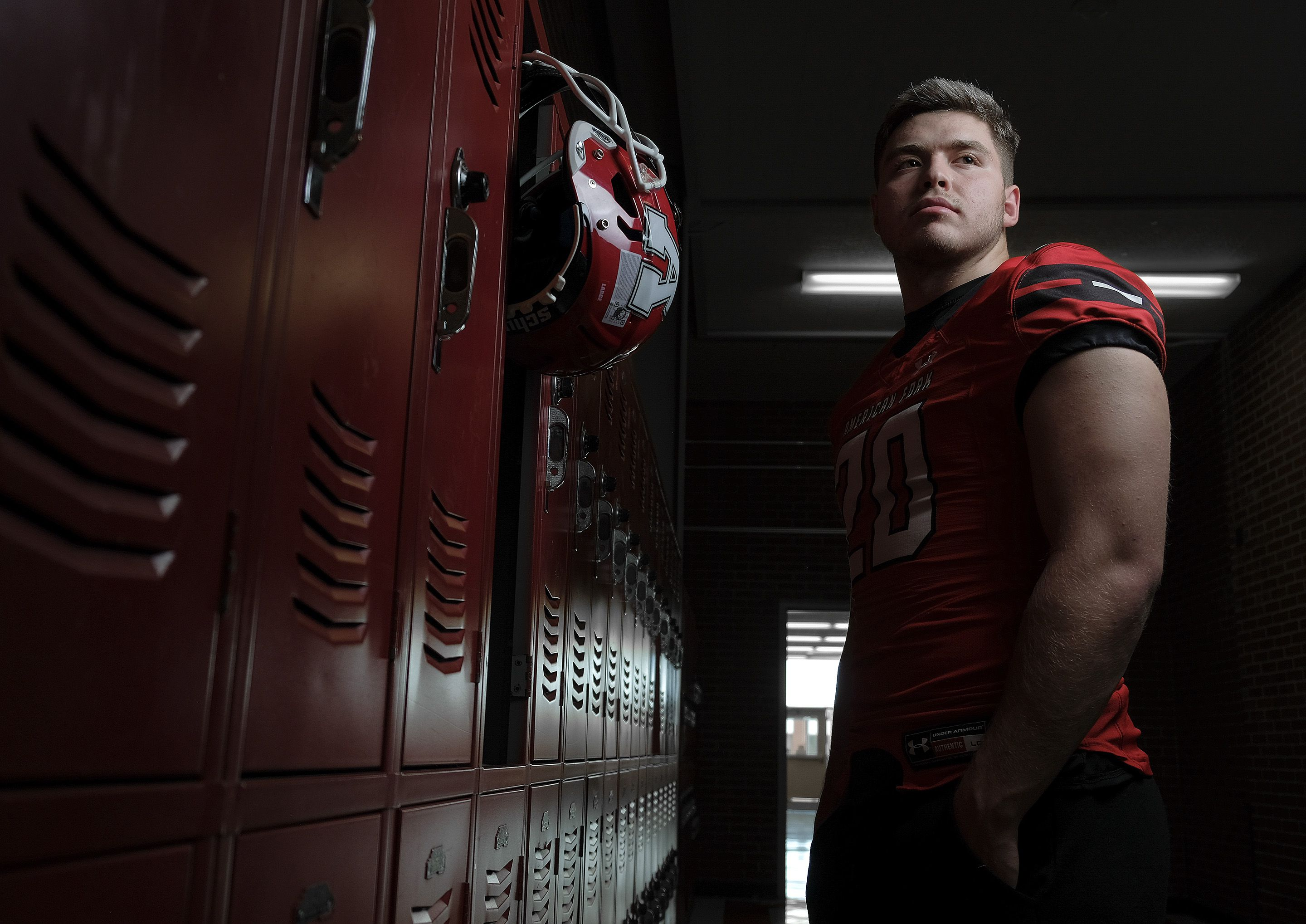 (Leah Hogsten | The Salt Lake Tribune) American Fork High School tight end Carsen Ryan, a top recruit in the state of Utah in the class of 2022, has trimmed down his list of scholarship offers to six schools, Feb. 17, 2021.