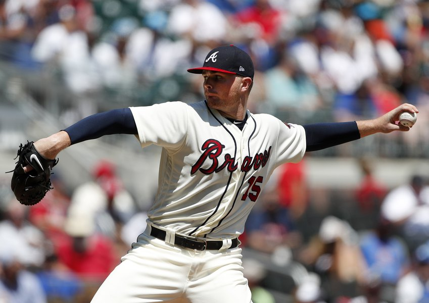 atlanta braves pitcher sean newcomb nearly throws no hitter then