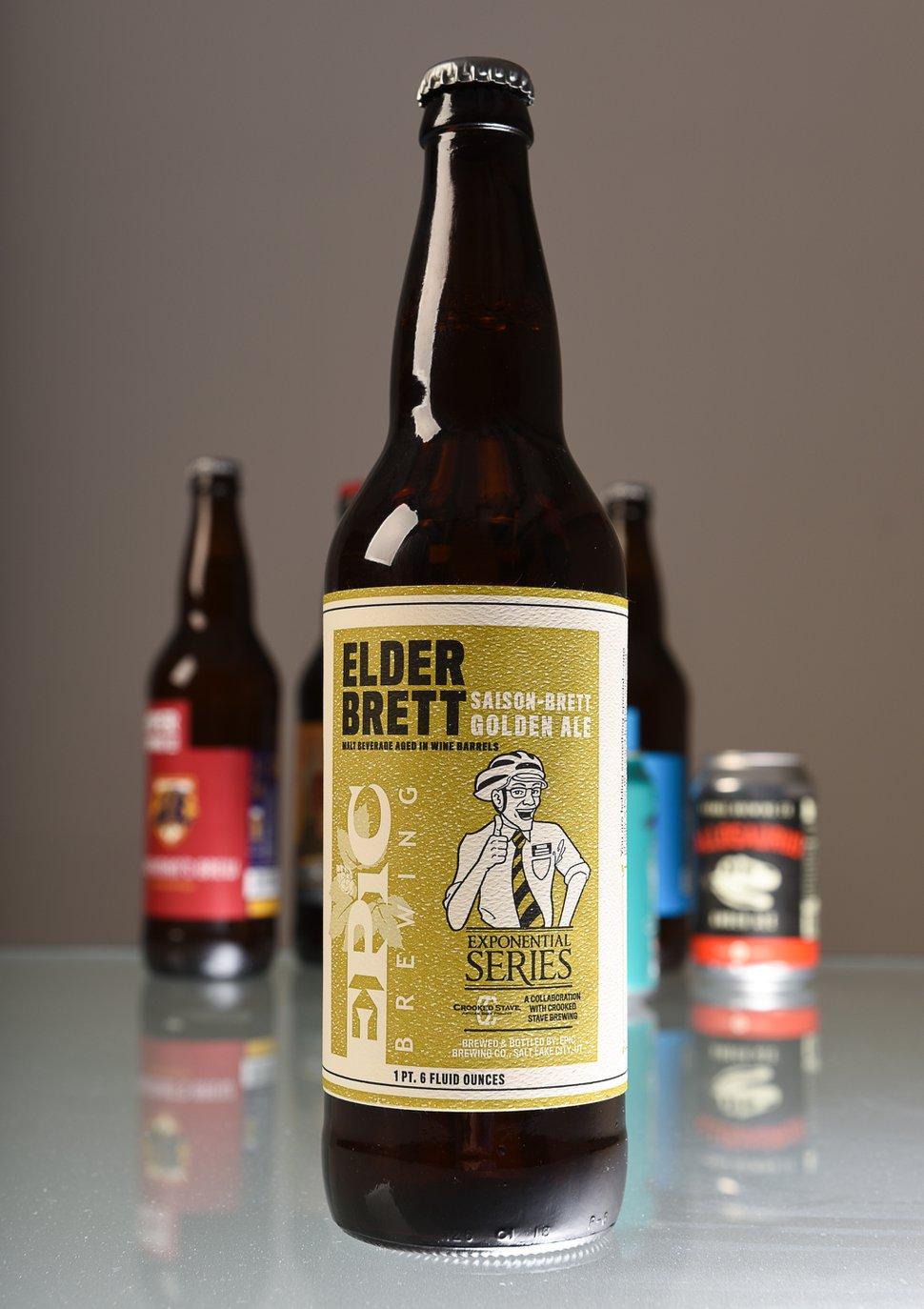 (Francisco Kjolseth | The Salt Lake Tribune) Utah's best beer names. Elder Brett, saison-brett golden ale by Epic brewery.