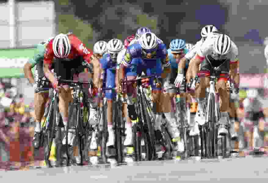 Fernando Gaviria edges Peter Sagan again to claim second stage win in Tour de France