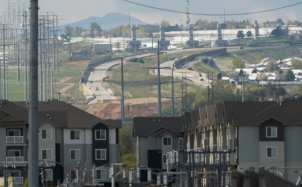 (Francisco Kjolseth | The Salt Lake Tribune) The Mountain View Corridor, pictured in the distance, will soon be extended North from 4100 South to S.R. 201. The Utah Department of Transportation announced its top road projects for the year on Wed. May 1, 2019, with the $335 million project at the top of the list, linking Salt Lake County drivers by connecting the north-south highway to an existing freeway.