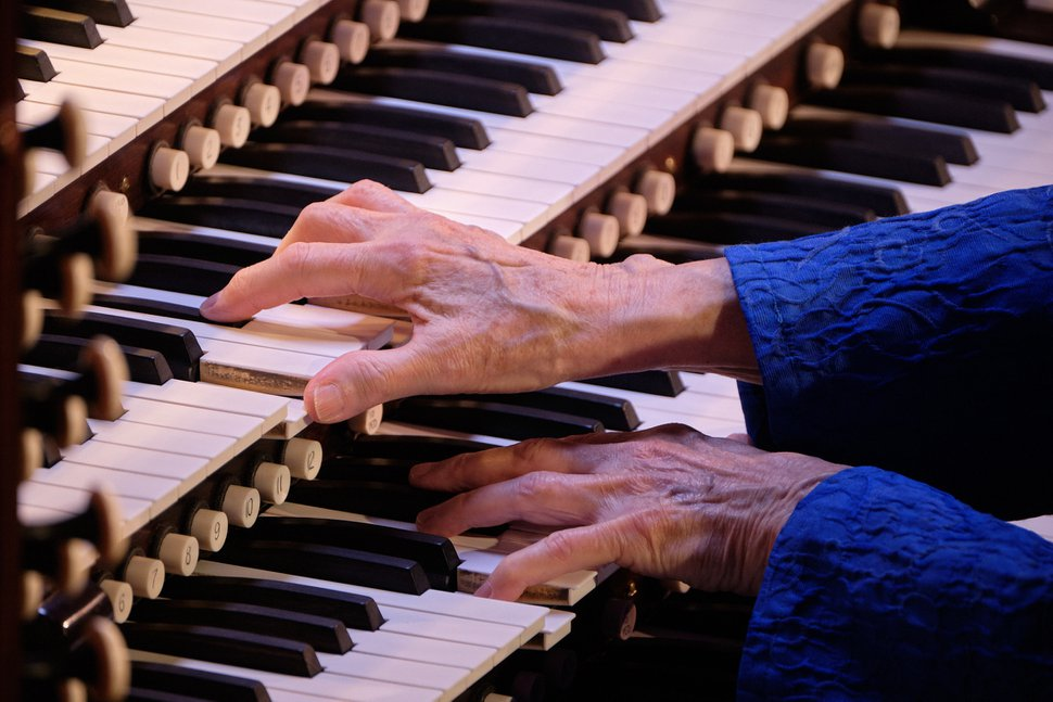 (Photo courtesy of The Church of Jesus Christ of Latter-day Saints) Temple Square organist Bonnie Goodliffe performs her final organ recital at the Tabernacle in Salt Lake City, Monday, Oct. 21, 2019. Goodliffe has been one of Temple Square's official organists for 40 years.