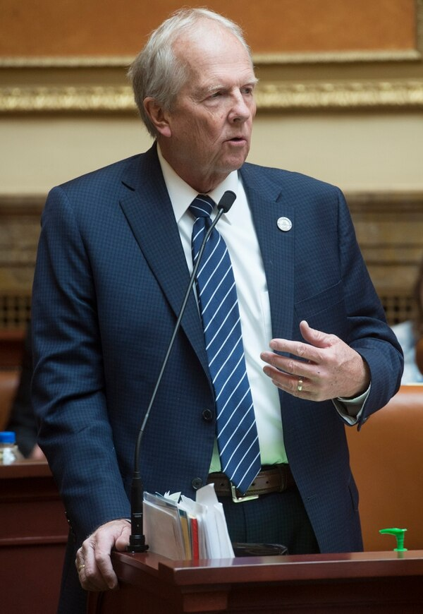 (Rick Egan | The Salt Lake Tribune) Rep Mike Noel, R-Kanab, as seen on Thursday, March 1, 2018. Long a critic of what he sees as government overreach, Noel was a main player in a spate of controversial water-related bills during the 2018 Utah Legislature.