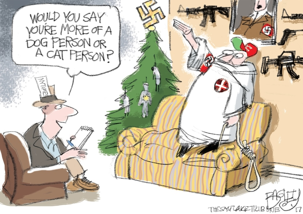 This Pat Bagley cartoon appears in The Salt Lake Tribune on Tuesday, Nov. 28, 2017.