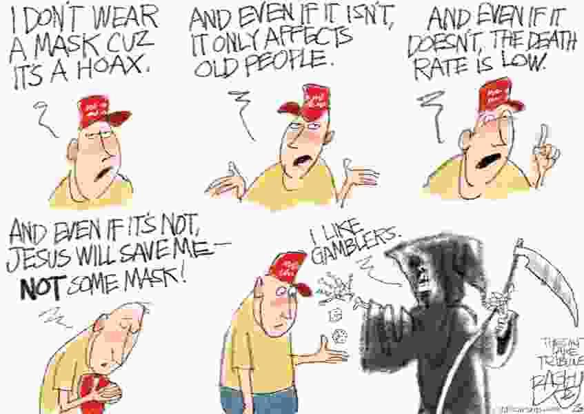 Bagley Cartoon: Playing Dice With Death