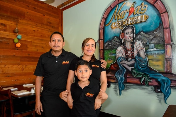 (Trent Nelson | The Salt Lake Tribune) Sergio, Alex and Maria Vazquez. Maria's Mexican Grill in Salt Lake City, Tuesday, Aug. 14, 2018.