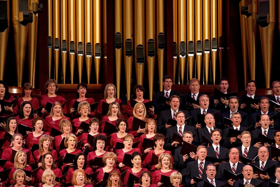 (Trent Nelson | The Salt Lake Tribune) The Mormon Tabernacle Choir performs at the First Presidency Christmas Devotional Sunday, December 5, 2010 held at the LDS Conference Center in Salt Lake City.