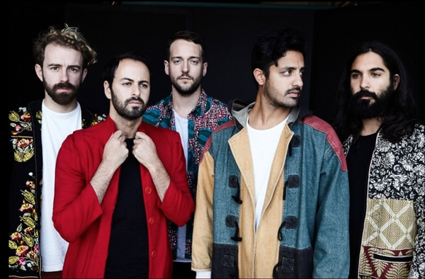Courtesy photo Young the Giant, with François Coimtois at left