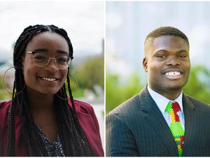 (Courtesy photos) Déborah Aléxis, left, and Don Izekor, who run the Black Student Union at Brigham Young University.
