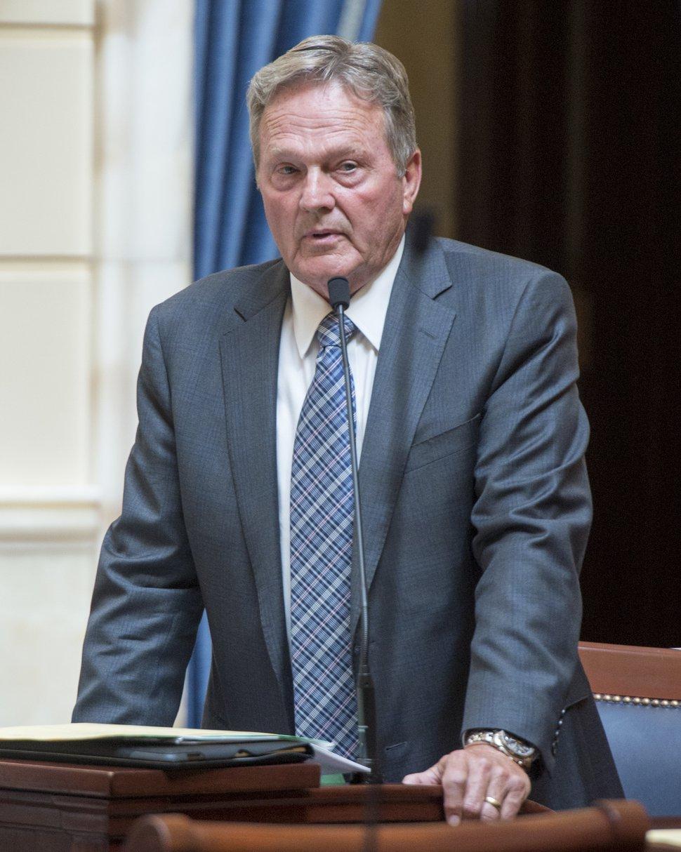 (Rick Egan | Salt Lake Tribune) Sen. Jerry Stevenson speaks at the Utah Capitol, Wednesday July 18, 2018.
