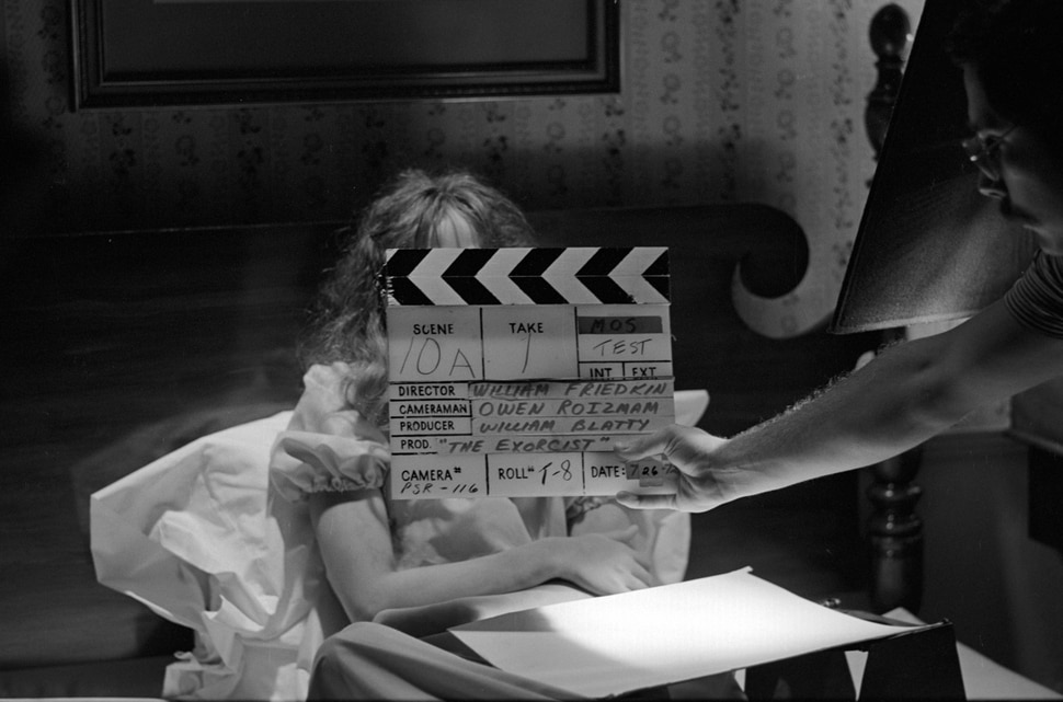(Courtesy of Sundance Institute) A moment from the set of The Exorcist, seen in Leap of Faith: William Friedkin on 'The Exorcist,' directed by Alexandre O. Philippe, an official selection of the Special Events program at the 2020 Sundance Film Festival.