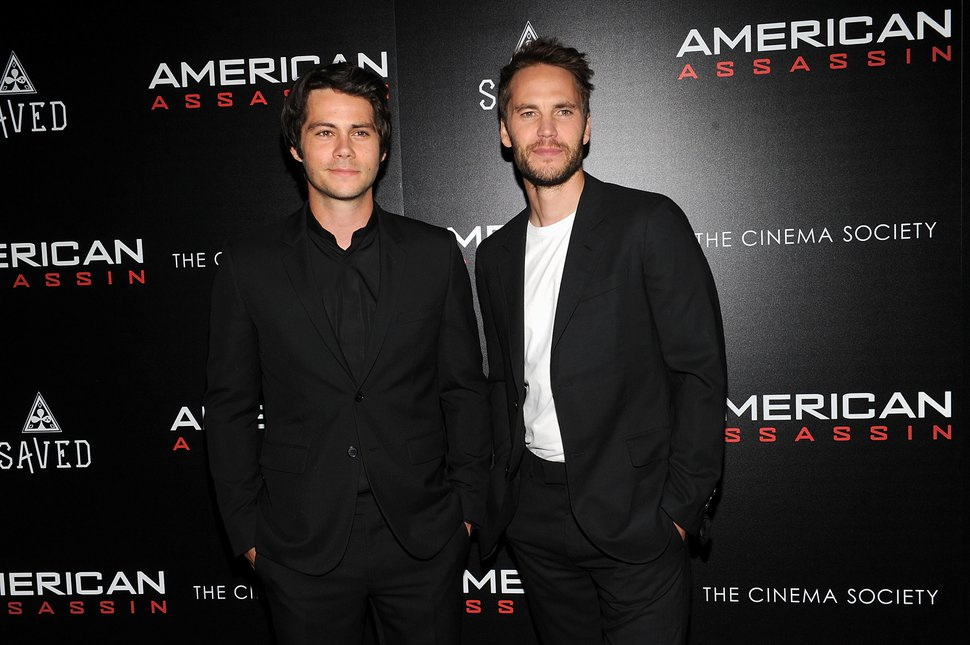 Actor Dylan O'Brien, left, and Taylor Kitsch attends the special screening of