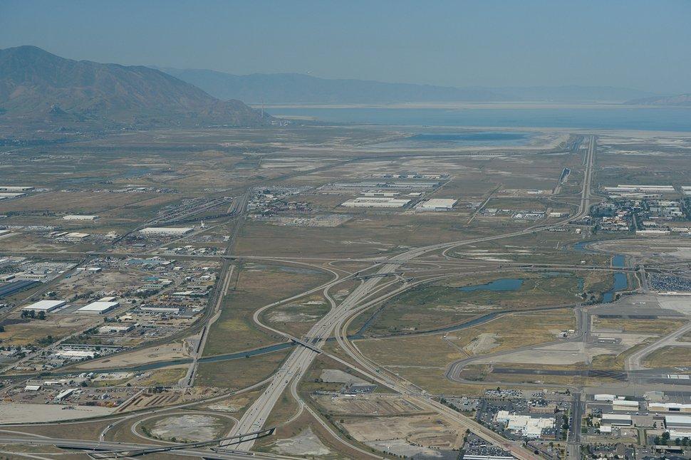 (Francisco Kjolseth | The Salt Lake Tribune) Aerial photos of various Salt Lake points of interest including the proposed inland port area. Salt Lake Tribune, downtown, capitol, North Salt Lake.