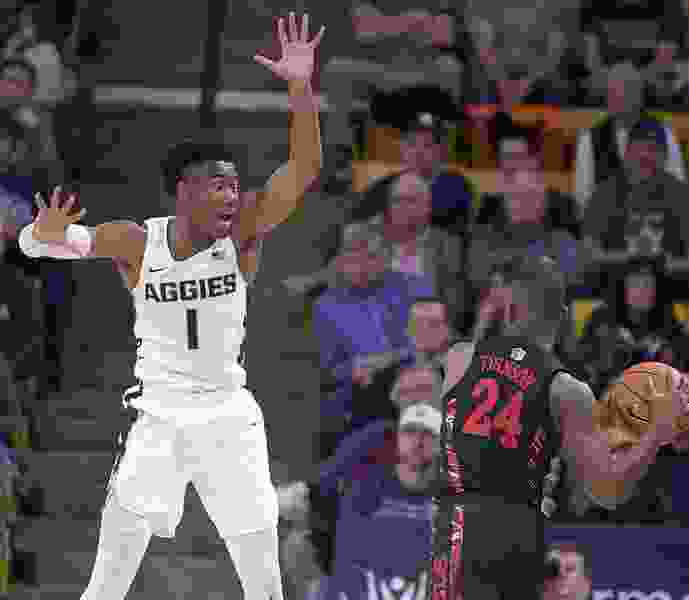Utah State star point guard Koby McEwen will transfer in the wake of new coaching hire