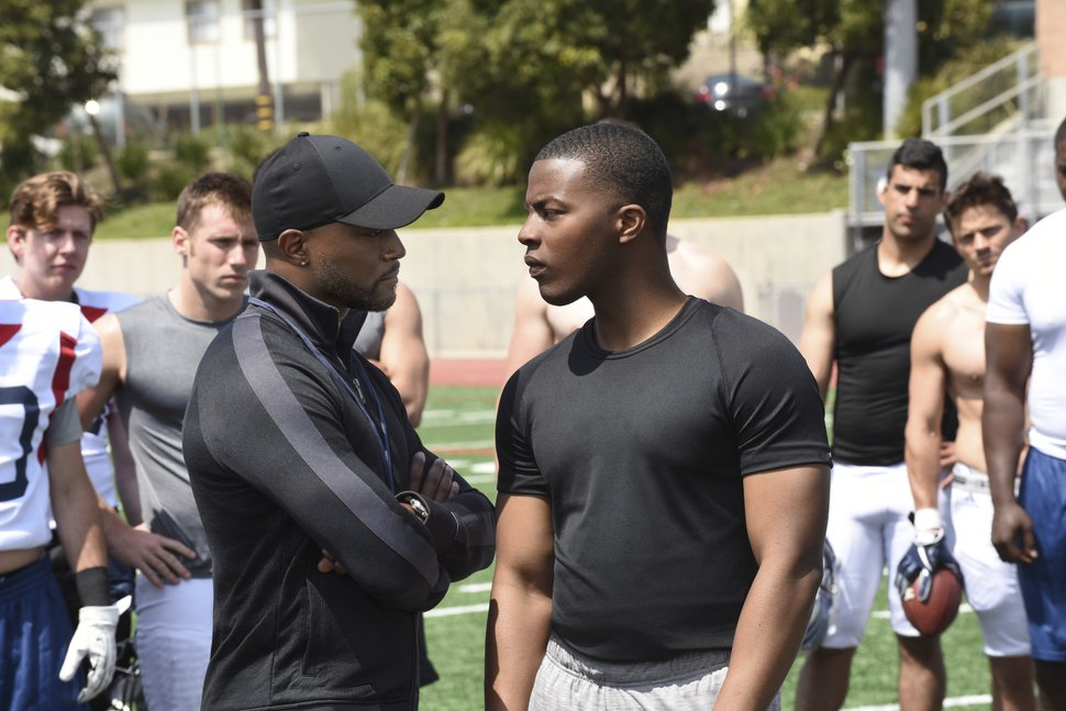 """(Photo courtesy Ray Mickshaw/The CW) Taye Diggs as Billy Baker and Daniel Ezra as Spencer James in """"All American."""""""