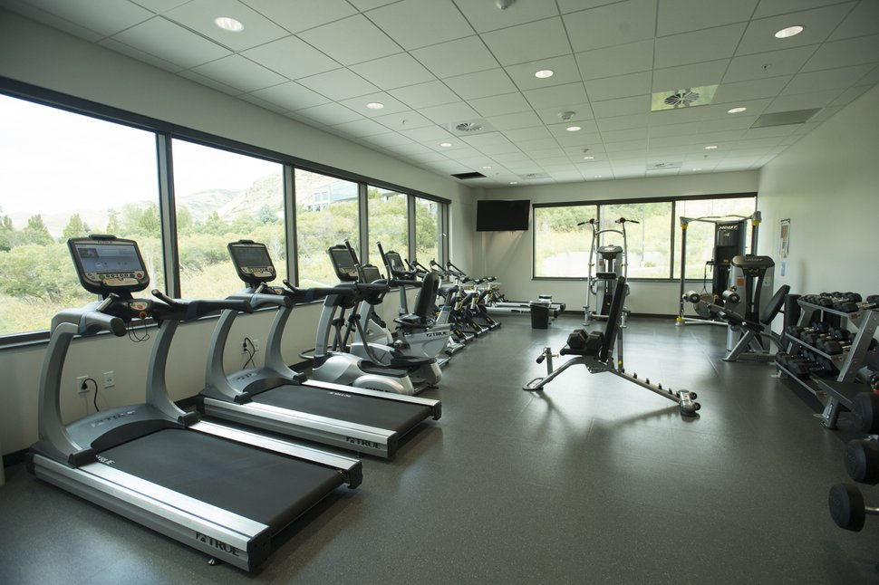 (Rick Egan | The Salt Lake Tribune) The exercise room at BioFire Diagnostic at Research Park. BioFire Diagnostic is one of the top performing companies in the Top Workplaces competition,Thursday, September 28, 2017.