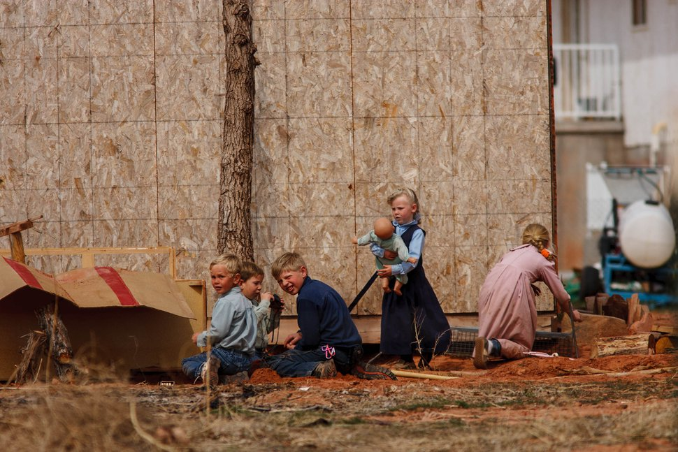 Trent Nelson | The Salt Lake Tribune Children at play in Colorado City, Arizona, in 2006.