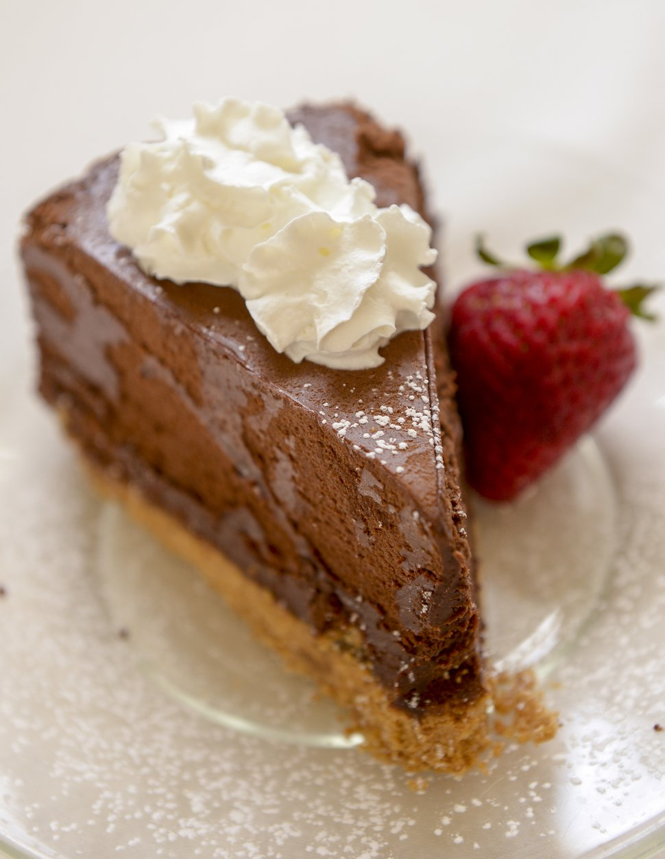 (Leah Hogsten | The Salt Lake Tribune) Chocolate silk pie at Auntie Rae's Dessert Island in Holladay.