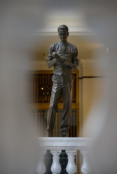 (Scott Sommerdorf | The Salt Lake Tribune) The Philo T. Farnsworth statue on the 4th floor of the Utah State Capitol, Thursday, January 25, 2018.