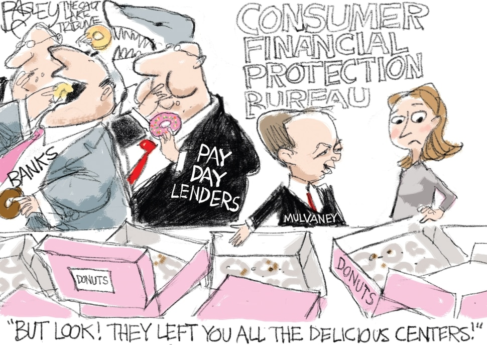 This Pat Bagley cartoon appears in The Salt Lake Tribune on Wednesday, Nov. 29, 2017.