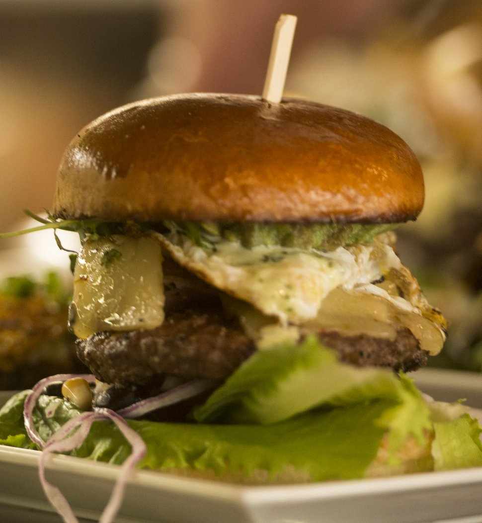 (Rick Egan | The Salt Lake Tribune) My Mexico Burger at Fat Jack's Burger Emporium & Tap House.
