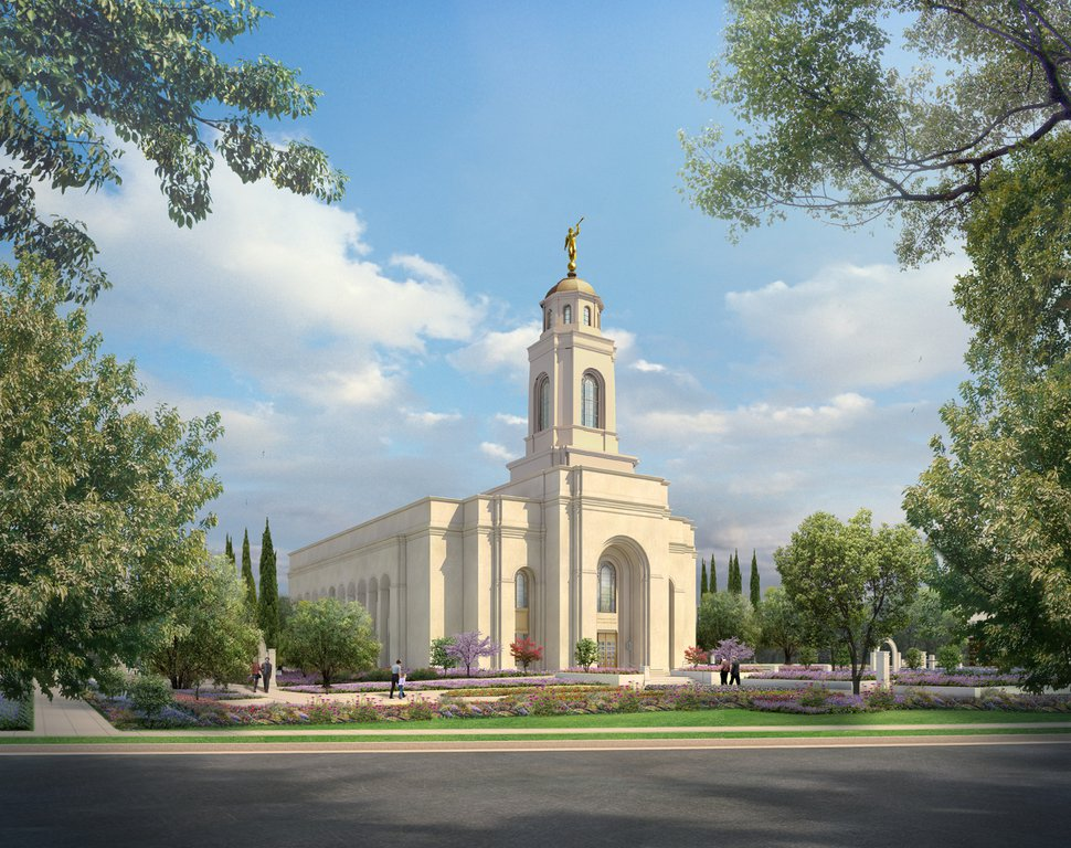 (Photo courtesy of The Church of Jesus Christ of Latter-day Saints) Rendering of the Feather River California Temple.