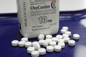 (AP file photo) OxyContin pills arranged for a photo at a pharmacy in Montpelier, Vt.