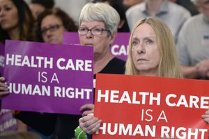 (Al Hartmann  |  Tribune file photo) In this 2015 file photo, the Utah Health Policy Project organized a rally attended by hundreds in support of a Medicaid expansion plan being pushed in the Legislature at that time.