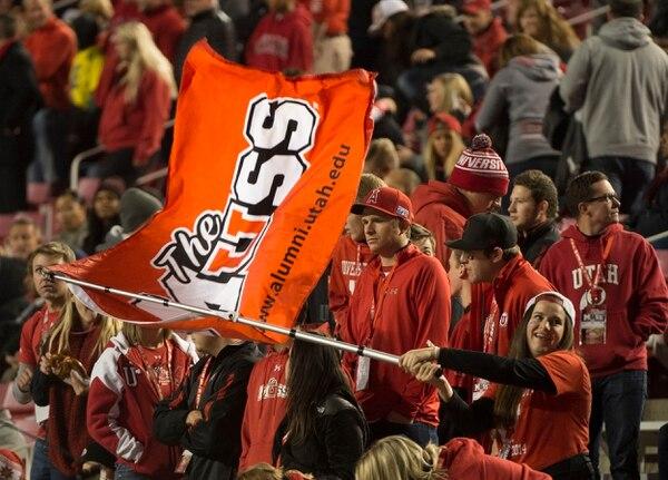 Rick Egan | The Salt Lake Tribune Ute fans cheer on their team before that Utah vs. Oregon game, at Rice-Eccles Stadium, Saturday, November 8, 2014