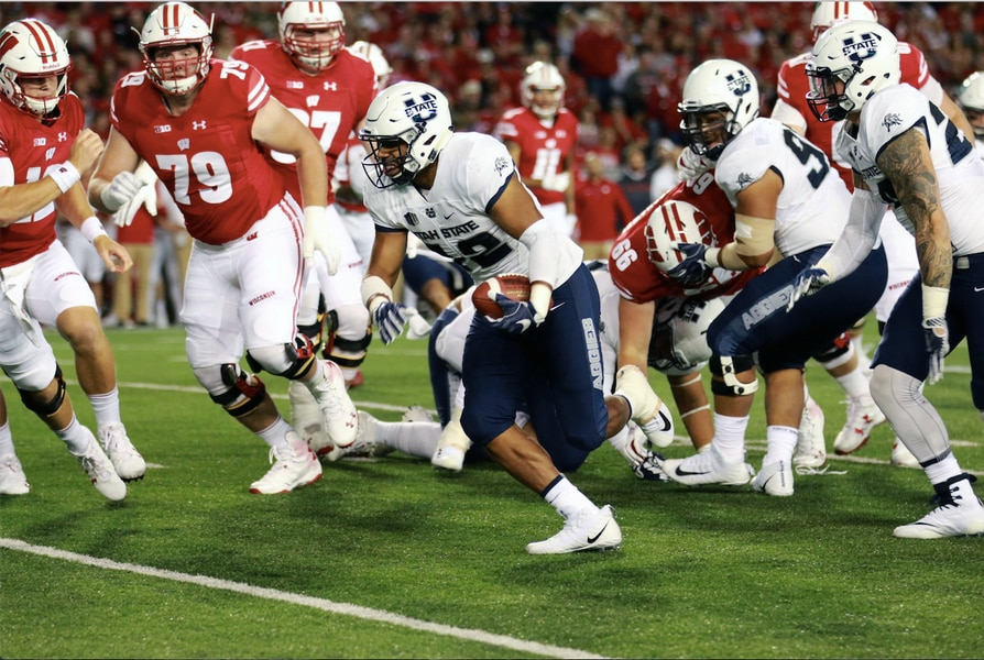 Utah State linebacker Suli Tamaivena's tough road to Logan has smoothed out
