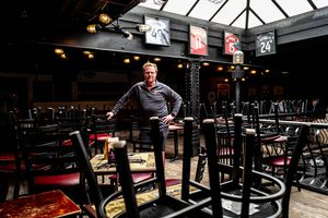 (Trent Nelson  |  The Salt Lake Tribune) Kirk Bengtzen in his Salt Lake City bar Twist on Friday, April 17, 2020. Bengtzen has continued to pay his employees while the bar is closed due to COVID-19.