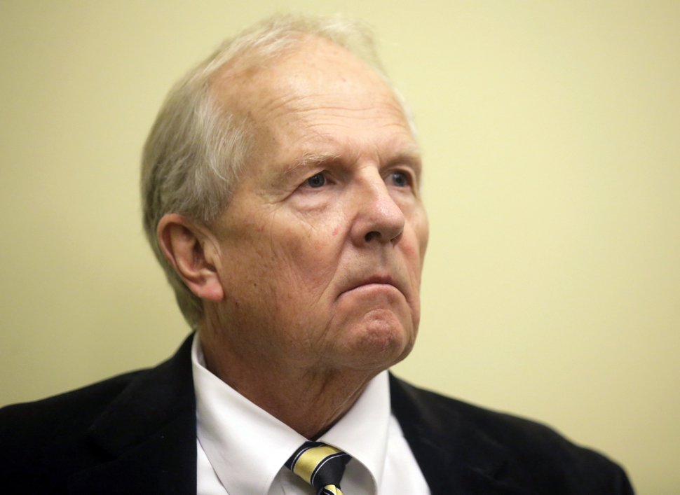 Republican Rep. Mike Noel, of Kanab, looks on during news conference Friday, Feb. 10, 2017, at the Utah State Capitol, in Salt Lake City. The family on the TV reality show