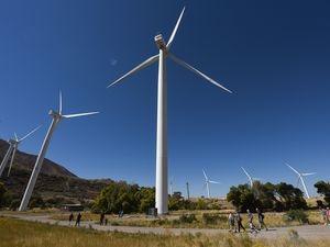 (Francisco Kjolseth   The Salt Lake Tribune) Rocky Mountain Power's windmills in Spanish Fork Canyon in 2017.