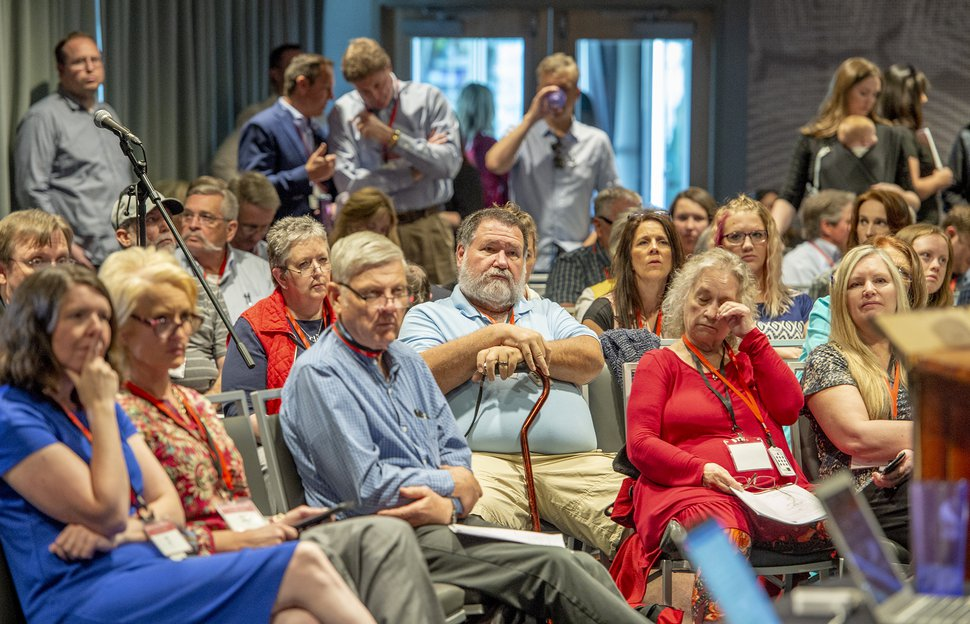 (Leah Hogsten | The Salt Lake Tribune) The Utah Republican Party Central Committee meets Saturday, May 19, 2018, to elect a new party vice chairman and debate several potential bylaw changes.