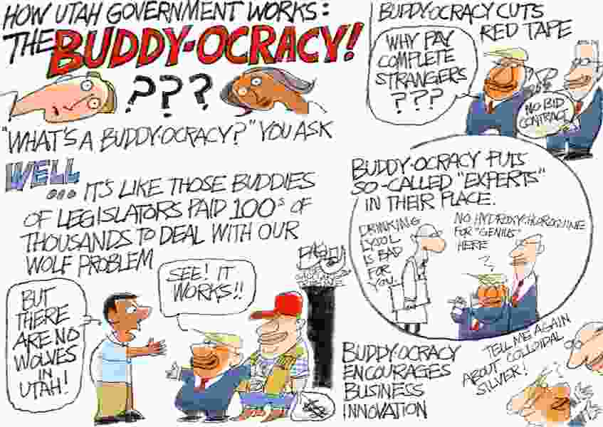 Bagley Cartoon: Good Ol' Buddy Network