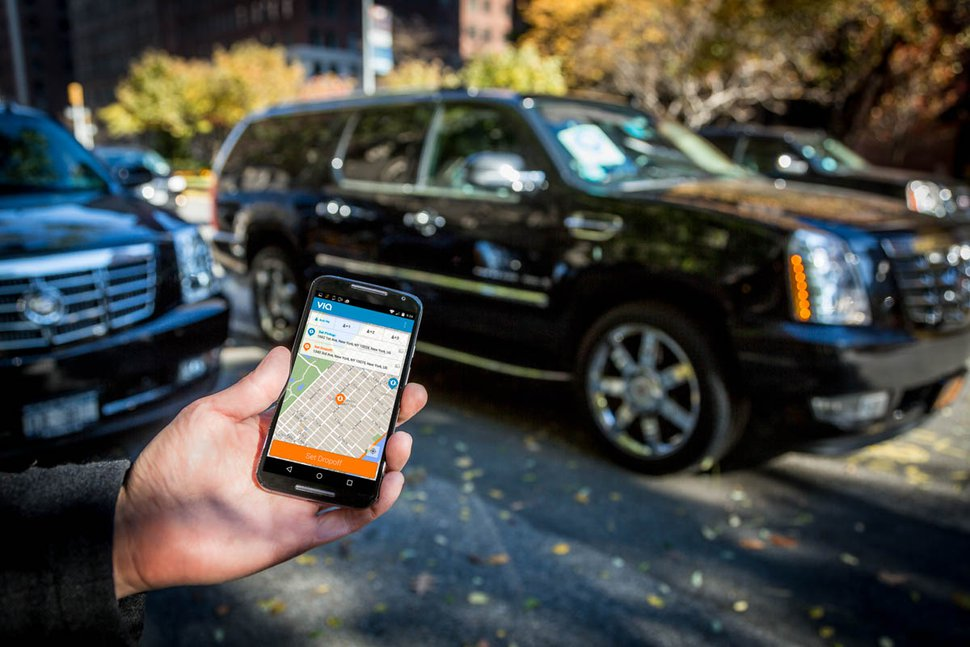 (Photo courtesy of Via) The Utah Transit Authority has awarded Via, a ridesharing app company, a contract to experiment with