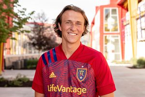 (Real Salt Lake) Zack Farnsworth is the newest center back for Real Salt Lake. Farnsworth signed a homegrown contract and is a Sandy, Utah, native.