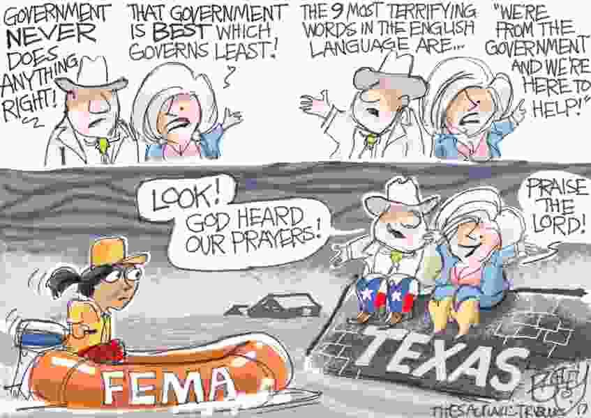 Bagley Cartoon: God Helps Those