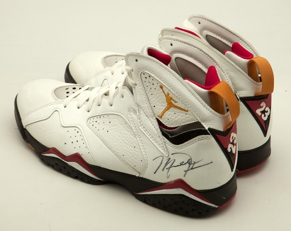 (Courtesy | SCP Auctions) Size 13 game-worn Air Jordan VII