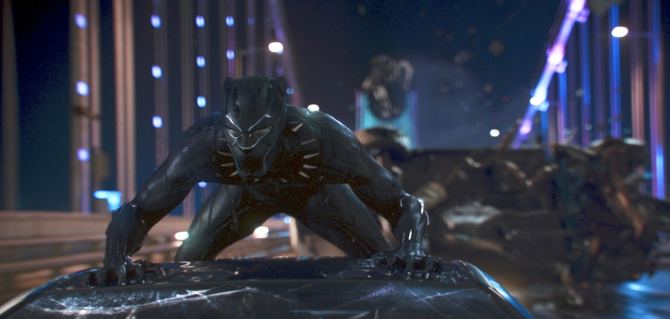 This image released by Disney shows a scene from Marvel Studios' Black Panther. (Matt Kennedy/Marvel Studios-Disney via AP)