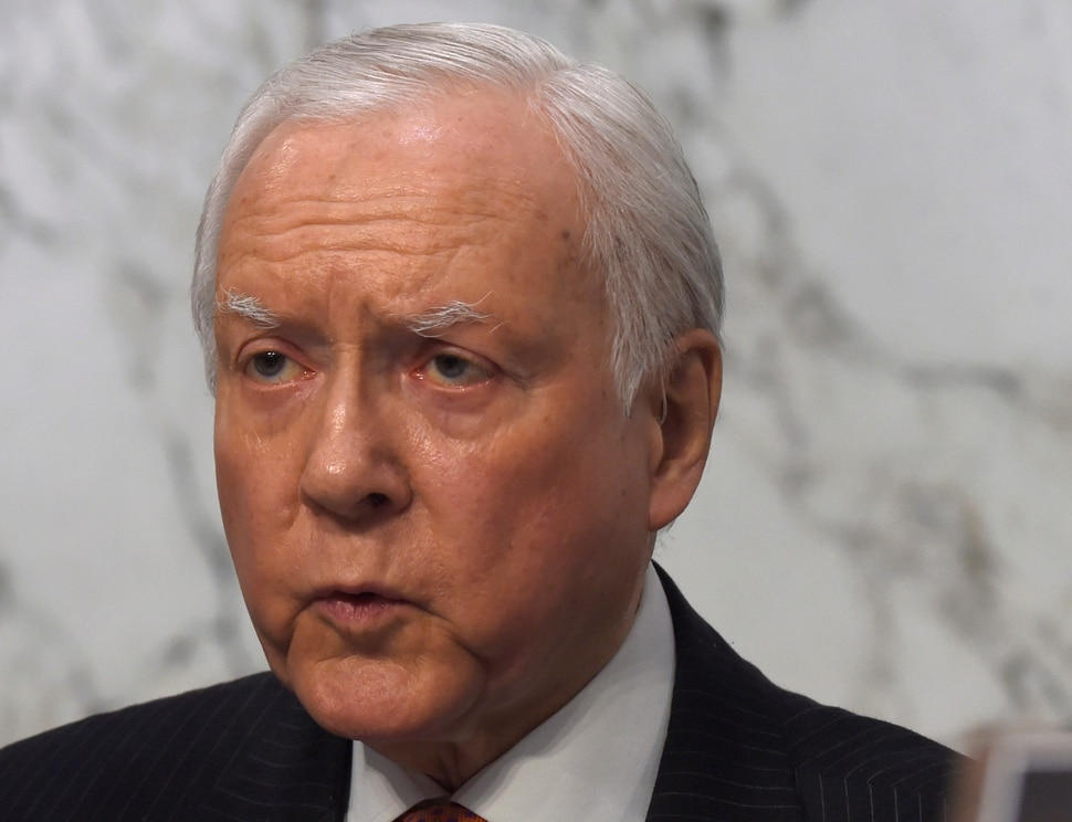 FILE - In this Jan. 28, 2015 file photo, Sen. Orrin Hatch, R-Utah is seen on Capitol Hill in Washington. A small, influential group of Republicans in search of a health care replacement intends to propose tax credits to help lower-income individuals and families purchase insurance, while simultaneously jettisoning the highly controversial coverage requirement in the current law, officials said Wednesday. (AP Photo/Susan Walsh, File)