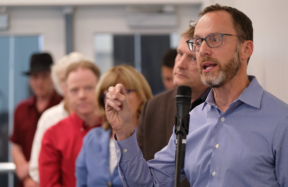 (Francisco Kjolseth | Tribune file photo) Andrew Gruber, executive director of the Wasatch Regional Council, talks to the Utah State Legislature Tax Restructuring and Equalization Task Force on Thursday, June 27, 2019.