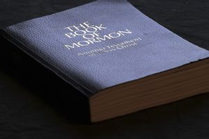 The Book of Mormon is shown Tuesday, Aug. 21, 2018, Salt Lake City. (AP Photo/Rick Bowmer)