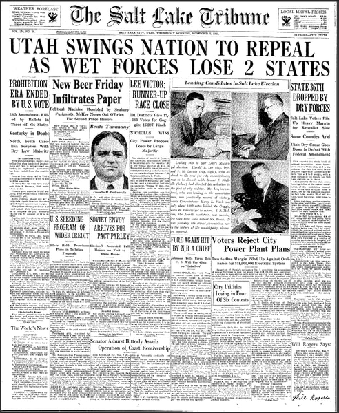 'Utah Booze News' podcast: Celebrate Repeal Day with a shot of history and answers to your liquor questions