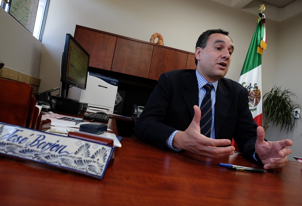(Francisco Kjolseth | The Salt Lake Tribune) JosŽ V. Borj—n the Consul of Mexico in Utah talks about the efforts being made for DACA recipients following the announcement by President Trump that he would rescind the program for immigrant youth. The consulate is offering free legal advice to DACA recipients, particularly the ones who need to renew it by the Oct. 5 deadline, and is covering the cost of the renewal.