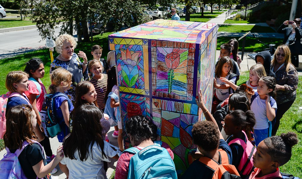 Children's art now wraps utility boxes near every Salt Lake City elementary school