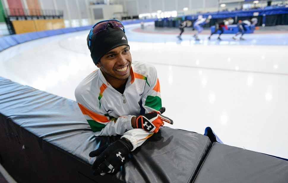 (Francisco Kjolseth | The Salt Lake Tribune) Committed to his adopted sport, Stephen Paul, a speedskater from India, is trying to become the first person ever from his country in his sport to qualify for the Winter Olympics in PyeongChang 2018, South Korea. Training 6-8 hours a day, 6-days a week, Paul moved to Salt Lake City four and half years ago to train at the Olympic Oval in Kearns after showing his talent for in-line skating at the age of 8.
