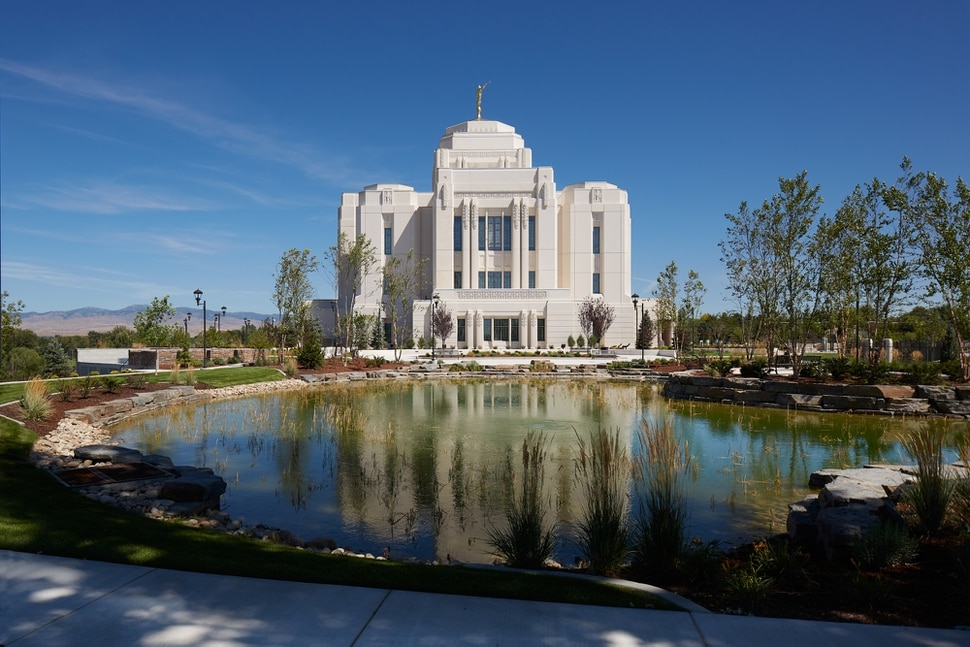 The new Meridian, Idaho, LDS Church temple will begin tours this coming Saturday as part of a four-week open house. (Photo courtesy LDS Church)
